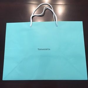 "Large Tiffany gift bag. 15"" across, 11"" high."